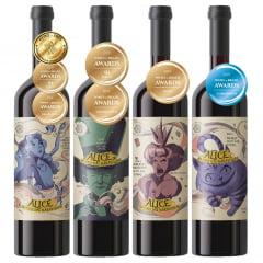 Kit Coleção Premium Alice no País das Maravilhas com 4 Garrafas