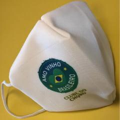 Máscara Amo Vinho Brasileiro - Clube do Choro