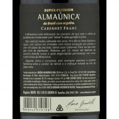 Almaúnica Super Premium Cabernet Franc 2019