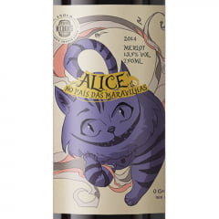 Enos Enoch Premium Alice no País das Maravilhas Gato Merlot 2014