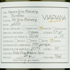 Viapiana Microlotes Gros Manseng 2017 - Vinho Âmbar / Laranja